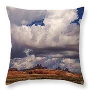 Storm Over Monument Valley Throw Pillow by Janice Rae Pariza