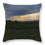 Storm Over The Yakima Valley Throw Pillow by Mike  Dawson