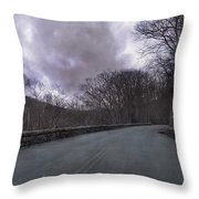 Stormy Blue Ridge Parkway Throw Pillow by Betsy Knapp