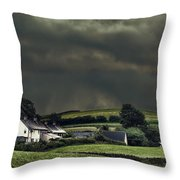 Stormy Hamlet Throw Pillow by Amanda And Christopher Elwell