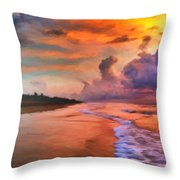 Stormy Skies Throw Pillow by Michael Pickett