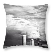 Stormy Weather On The Farm Throw Pillow by Edward Fielding