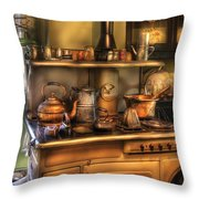Stove - What's For Dinner Throw Pillow by Mike Savad