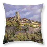 St.paul De Vence Throw Pillow by Guido Borelli
