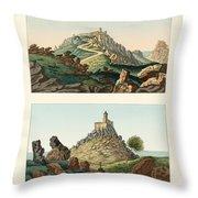 Strange abbeys in Portugal Throw Pillow by Splendid Art Prints