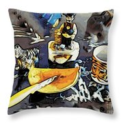 Strange Things That I Love Throw Pillow by Phyllis Kaltenbach