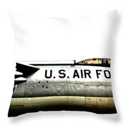 Stratojet Throw Pillow by Benjamin Yeager