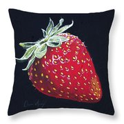 Strawberry Throw Pillow by Aaron Spong