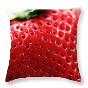 Strawberry Detail Throw Pillow by John Rizzuto