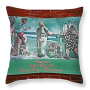 Street Ad Throw Pillow by Skip Willits