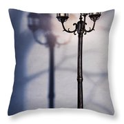 Street Lamp At Night Throw Pillow by Oleksiy Maksymenko