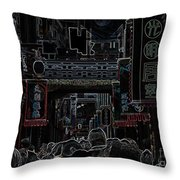 Street Scene In China Throw Pillow by Barbie Corbett-Newmin