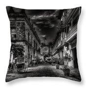 Streets Of Havana Bw Throw Pillow by Erik Brede