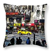 Streets of Manhattan 20 Throw Pillow by Mario  Perez