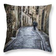 Streets Of Segovia Throw Pillow by Joan Carroll