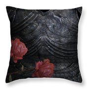 Strength Of A Rose Throw Pillow by Jack Zulli