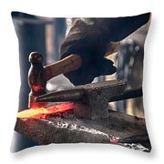 Strike While The Iron Is Hot Throw Pillow by Trever Miller