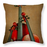 Stringed Trio Throw Pillow by David and Carol Kelly