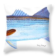 Striped Bass Throw Pillow by Carey Chen