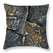 Structural Stone Surface Throw Pillow by Heiko Koehrer-Wagner