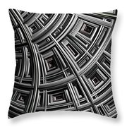 Structure Throw Pillow by John Edwards