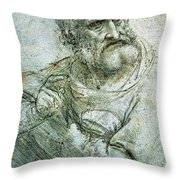 Study For An Apostle From The Last Supper Throw Pillow by Leonardo da Vinci