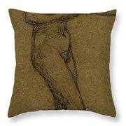 Study For Shuttlecock Throw Pillow by Albert Joseph Moore