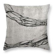 Study Of Arms Throw Pillow by Leonardo Da Vinci