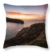 Stunning Sunrise Over Ocean Landscape Throw Pillow by Matthew Gibson