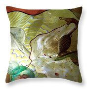 Subtle Colors In Glass Throw Pillow by Eunice Miller