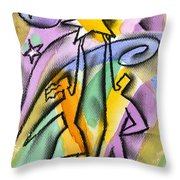 Success Throw Pillow by Leon Zernitsky