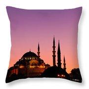 Suleymaniye Sundown 02 Throw Pillow by Rick Piper Photography