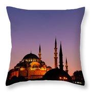 Suleymaniye Sundown 03 Throw Pillow by Rick Piper Photography