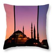 Suleymaniye Sundown Triptych 02 Throw Pillow by Rick Piper Photography