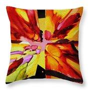 Summer Abstract Throw Pillow by Kathy Bassett