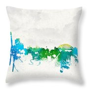 Summer Day In Sydney Australia Throw Pillow by Aged Pixel