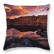 Summer Dells Sunset Throw Pillow by Peter Coskun