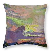 Summer Evening Throw Pillow by Michael Creese