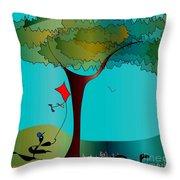 Summer Fun Throw Pillow by Iris Gelbart