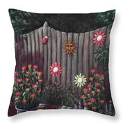 Summer Garden Throw Pillow by Anastasiya Malakhova