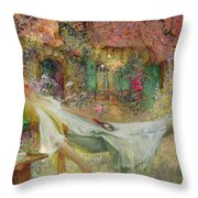 Summer In The Garden Throw Pillow by Darien Henri-Gaston
