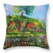 Summer In The Shire Throw Pillow by Joe  Gilronan