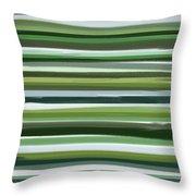 Summer Of Green Throw Pillow by Lourry Legarde