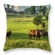 Summer On The Farm Throw Pillow by Bill  Wakeley