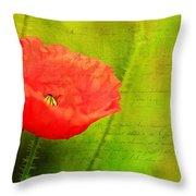 Summer Poppy Throw Pillow by Darren Fisher