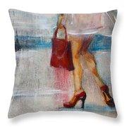 Summer Rain  Throw Pillow by Jani Freimann