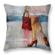 Summer Rain  Throw Pillow by Jani Freimann