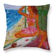 Summer Sensibility Throw Pillow by Xueling Zou