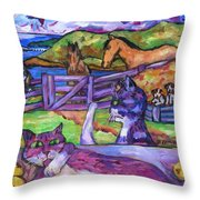 Summer Time and The Living Is Easy Throw Pillow by Dianne  Connolly