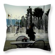 Summertime Fun Throw Pillow by Avis  Noelle